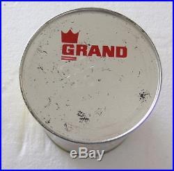 Vintage 1960s 1 qt Grand Champion Motor Oil Can full quart racing car graphics