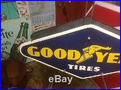 Vintage 1961 Metal Goodyear Tire Display Sign Gas Oil Gasoline Service Station