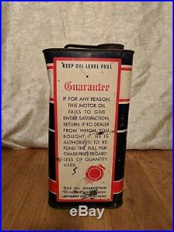 Vintage 2 Gallon Penguin Motor Oil Can RARE