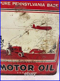 Vintage 2 Gallon Super-Lube Motor Oil Can