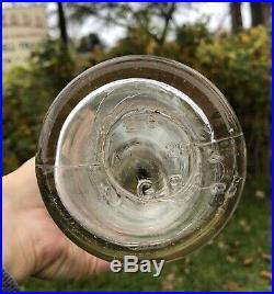 Vintage 30s 100% Original ESSO EXTRA Motor Oil Gas Station Quart Glass Bottle