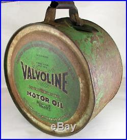 Vintage 5 Gallon Valvoline Motor Oil Co. Rocker Oil Can