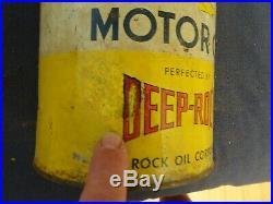 Vintage 5Qt DEEP ROCK AIR RACE MOTOR OIL CAN. 5 QT AIR RACE