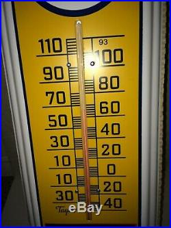 Vintage 80's/90's MIB Mint Blue Sunoco Thermometer, Anty-Nok Gas, Motor Oil, Taylor