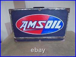 Vintage AMSOIL Dealer Demonstrator Salesman Sample Gas & Oil Advertising Display