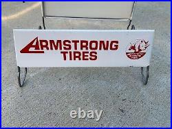 Vintage ARMSTRONG TIRES Display Stand Rack Sign Gas & Oil
