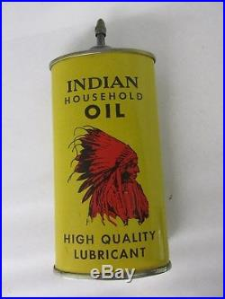 Vintage Advertising Handy Ndian Oil Oiler Tin Collectible Lead Top 255-z
