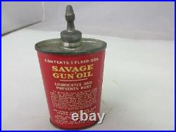 Vintage Advertising Savage Gun Handy Oiler Oil Auto Tin Can 922-z