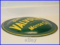 Vintage Advertising Sign Valvoline Motor Oil, Original Bubble Sign
