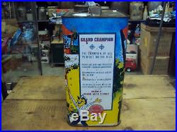 Vintage Advertising Two Gallon Grand Champion Service Station Oil Can 310-z