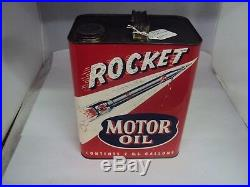 Vintage Advertising Two Gallon Rocket Service Station Oil Can 953-z
