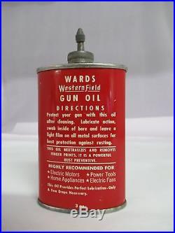 Vintage Advertising Wards Western Field Gun Oil Lead Top Oiler, 444-x