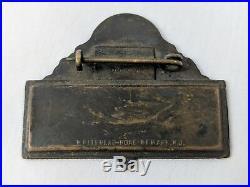 Vintage Antique Texaco Employee Attendent Name Tag Badge Enameled Pin Oil