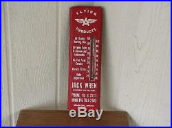 Vintage Authentic Flying A Oil Company Thermometer-Country Store-Garage