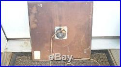 Vintage BARDAHL Original 15 square Pam Clock'Makes Cars Run Better Gas Oil