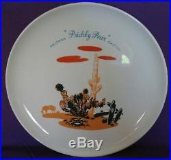 Vintage Blakely Gas & Oil Arizona Cactus 10 Dinner Plates Set of 8 Complete