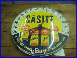 Vintage Casite Oil Round Thermometer 12 324-z