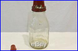 Vintage Castrol 1 Quart Motor Oil Bottle with XL Medium Super Grade Pourer & Lid