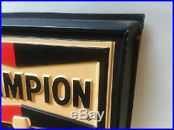 Vintage Champion Spark Plug Advertising Sign 3d Perpetual Calendar Gas / Oil Old