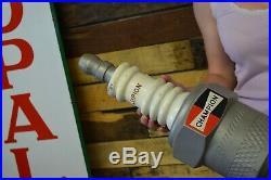 Vintage Champion Spark Plug Americana Auto Advertising Sign Gas Oil 3d 60's Plug