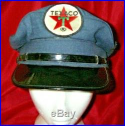 Vintage Collectible TEXACO Oil Service Gas Station Uniform Hat Cap Patch 2 of 2