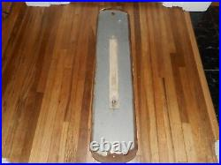 Vintage DX OUTBOARD MOTOR OIL BOAT Advertising Tall Long Advertising Thermometer