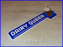 Vintage Dairy Queen Ice Cream Cone +shake Restaurant 15 Metal Gasoline Oil Sign