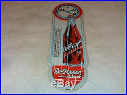 Vintage Dr Pepper Soda Pop 18 Porcelain Metal Gasoline & Oil Thermometer Sign