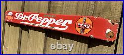 Vintage Dr Pepper Soda Porcelain Sign Door Bar Pop Oil Gas Station Store Drink