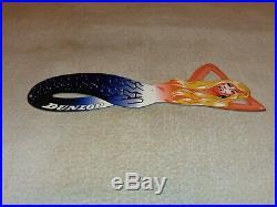 Vintage Dunlop Tires Blond Mermaid Woman Diecut 15 Metal Tire Gasoline Oil Sign