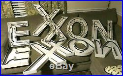 Vintage EXXON NEON LIGHT-UP SIGN withINDIVIDUAL LETTERS (HUGE SIGNAGE) gas/oil