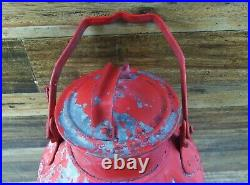 Vintage Embossed TEXACO 5 Gallon Bulk Oil Can With Lid Red Gas Station