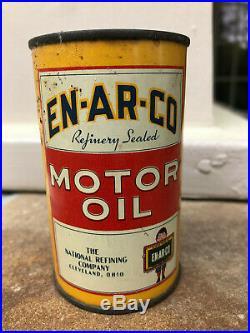 Vintage Enarco Penn Motor Oil Can Bank RARE