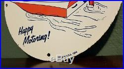 Vintage Esso Gasoline Porcelain Gas Motor Oil Service Station Pump Plate Sign