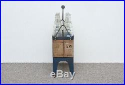 Vintage Essolube crate old garage oil crate with motor oil bottles 8x1 quart btl