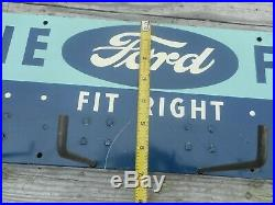 Vintage FORD Fan Belts Hanging Car Auto GAS OIL Advertising Display Rack SIGN