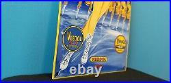 Vintage Flying A Gasoline Porcelain Veedol Motor Oil General Store Display Sign