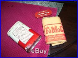 Vintage Ford 1960s antique nos cloth accessory kit wax Oil can auto promo part