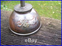 Vintage Ford script 1908 dated antique tool kit Oil can auto promo oiler part
