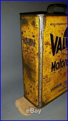Vintage GERMAN 1939 Oil Can Prewar Valvoline Standard Mobiloil Veedol Esso