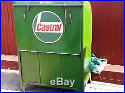 Vintage Garage Forecourt Oil Pump Cabinet Dispenser Castrol