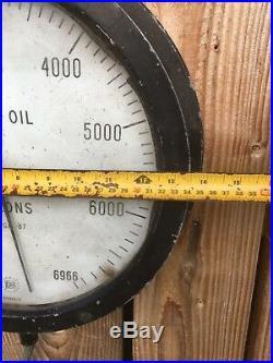 Vintage Garage Petrol station fuel guages pump gas automobilia oil gallons