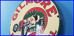 Vintage Gilmore Stadium Firestone Porcelain Gasoline Racing Fuel Oil Sign