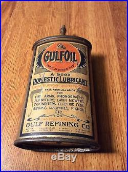Vintage Gulf Oil Lead Top Oil Can