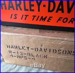Vintage HARLEY-DAVIDSON Counter Display Parts Catalog Rack
