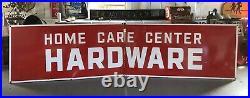 Vintage HUGE 12 Original Home Care Center HARDWARE Store Gas Oil Porcelain Sign