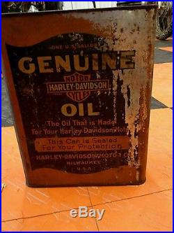 Vintage Harley Davidson Sidecar 1 Gallon Oil Can