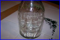 Vintage Havoline Motor Oil Gas Station Embossed Glass Bottle Jar Can Sign