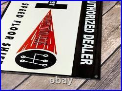 Vintage Hurst Floor Shifter Metal Advertising Dealer Sign Competition Gas Oil