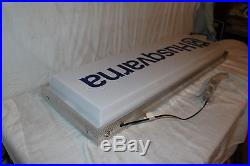 Vintage Husqvarna Motorcycles Chain Saws Gas Oil 37 Lighted Metal Sign WithBox